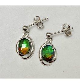 Korite Dangle Ammolite Earrings