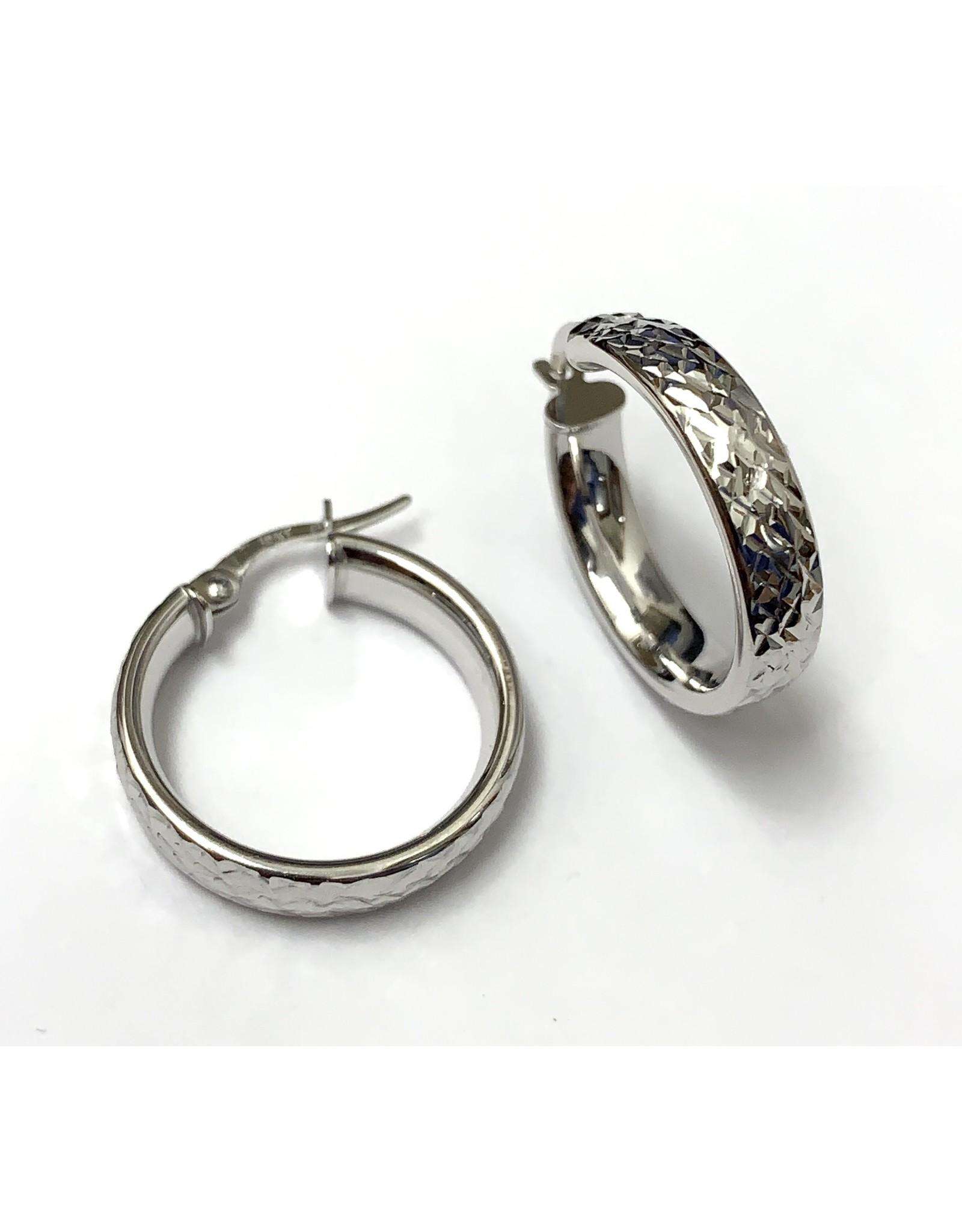 Diamond Cut Hoop Earrings 10KW