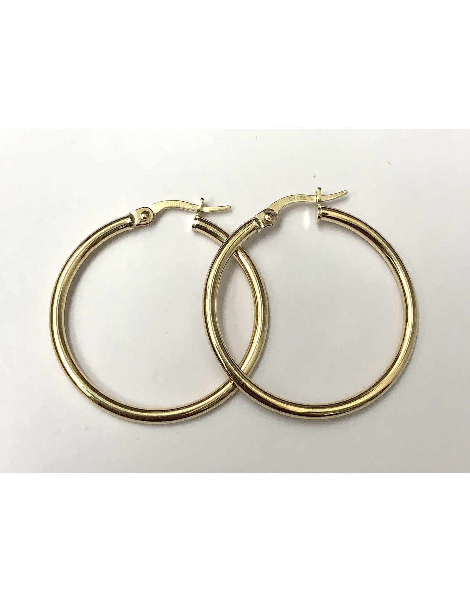 Classic Hoop Earrings 10KY