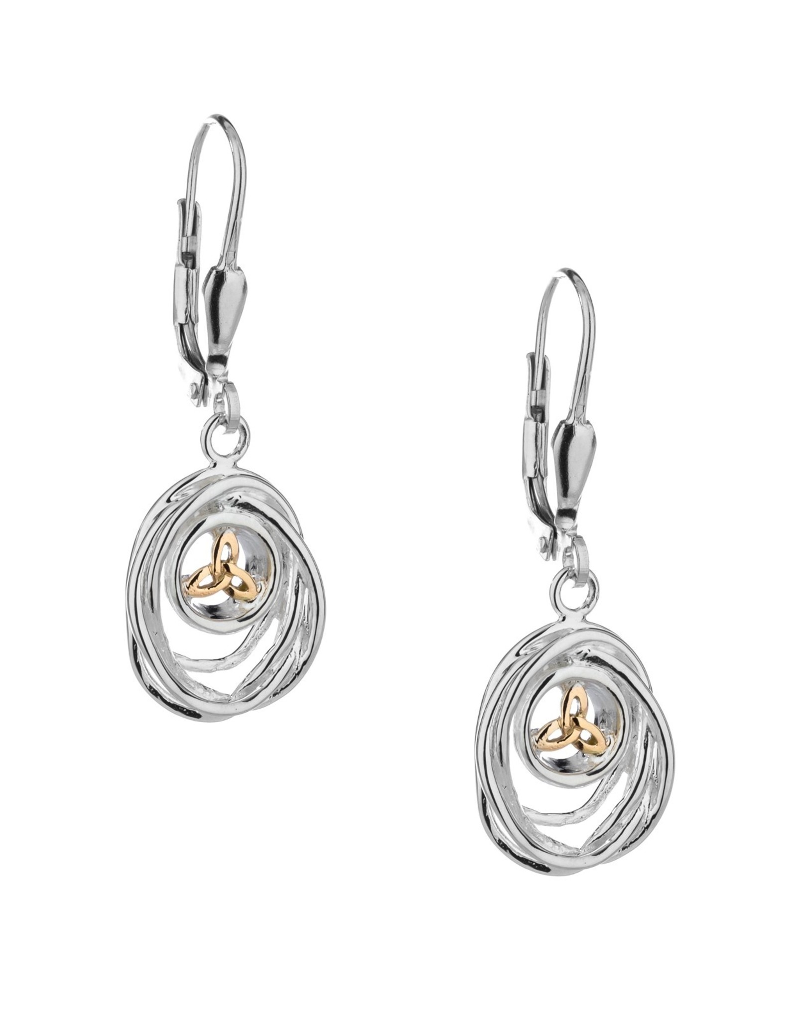 Keith Jack Celtic Cradle of Life Drop Earrings SS/10KY