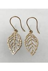 Open Leaf Earrings 14KR