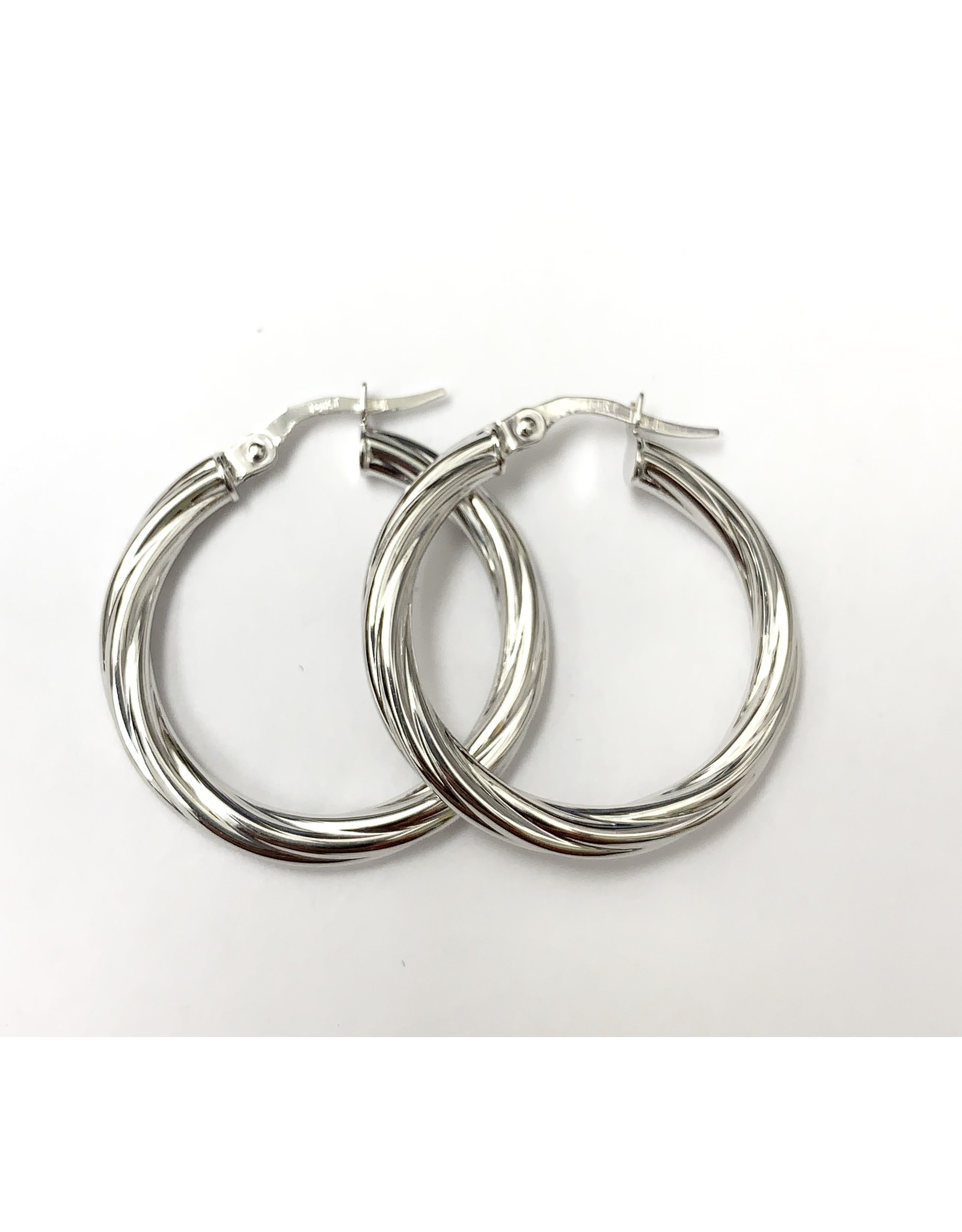 Circle Twist Hoop Earrings 10KW