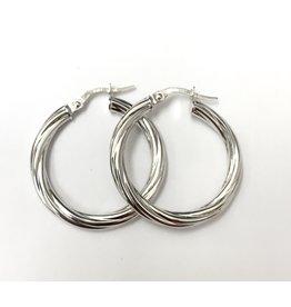 Circle Twist Hoops