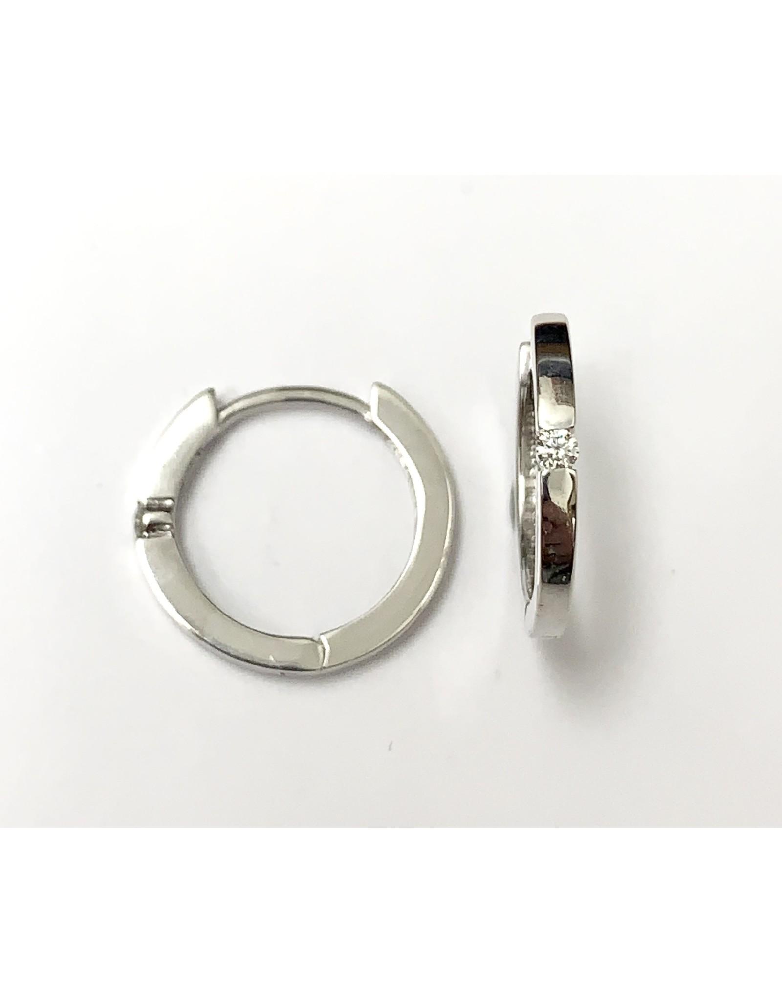 0.05ct Diamond Hoop Earrings 10KW