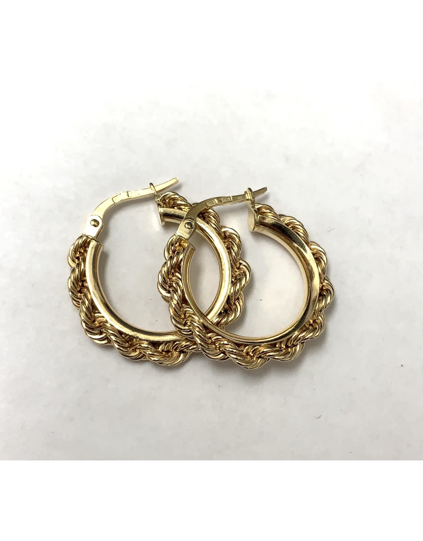 Rope Chain Hoop Earrings 10KY