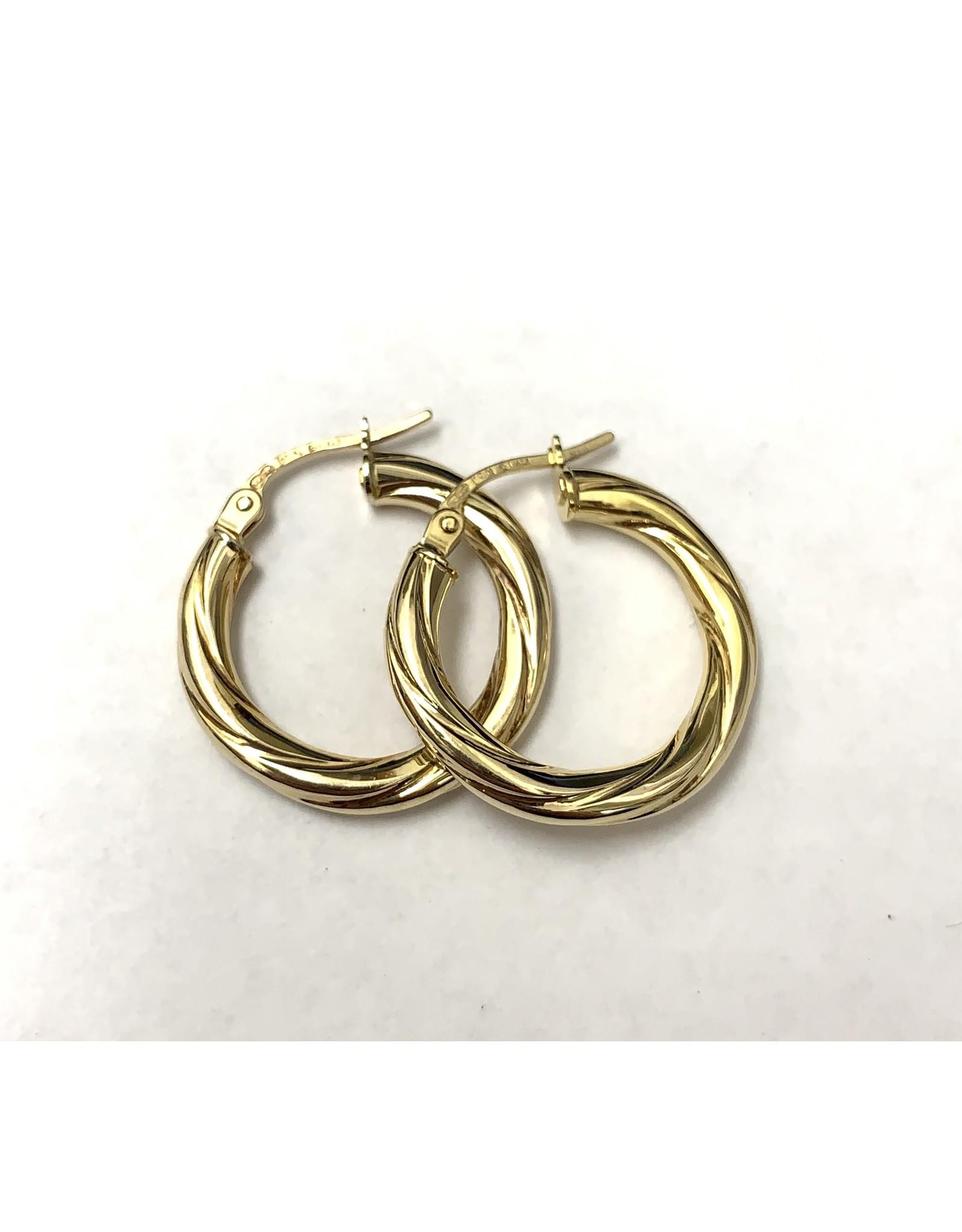 Twist Hoop Earrings 10KY