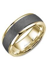 Crown Ring Tantalum & Polished Edges (Bleu Royale) 14KY