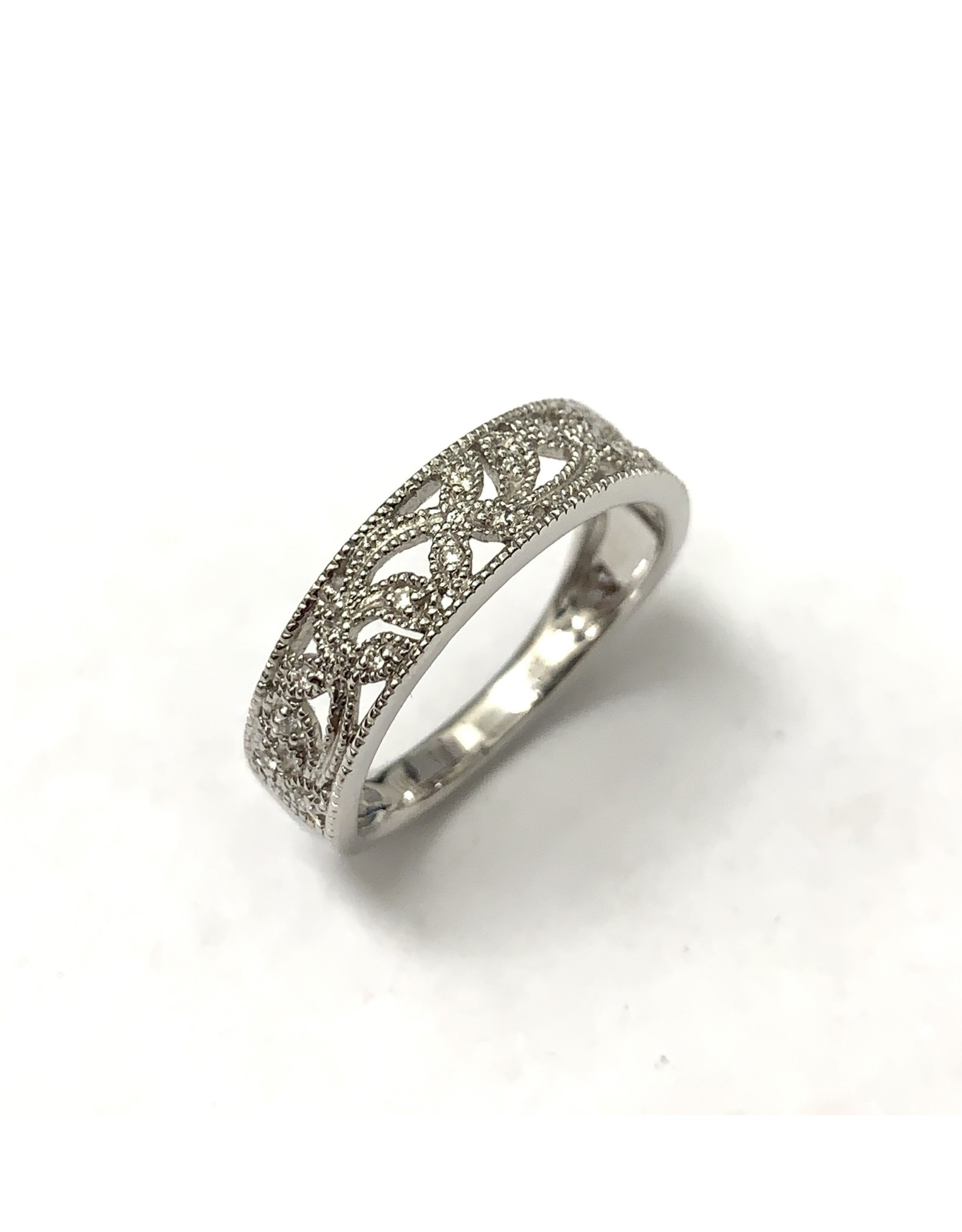 Millgrained Diamond Ring 10KW