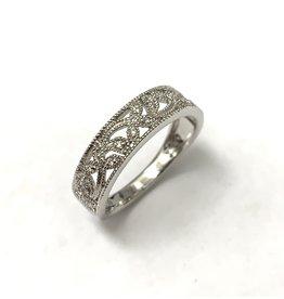 Millgrained Diamond Ring