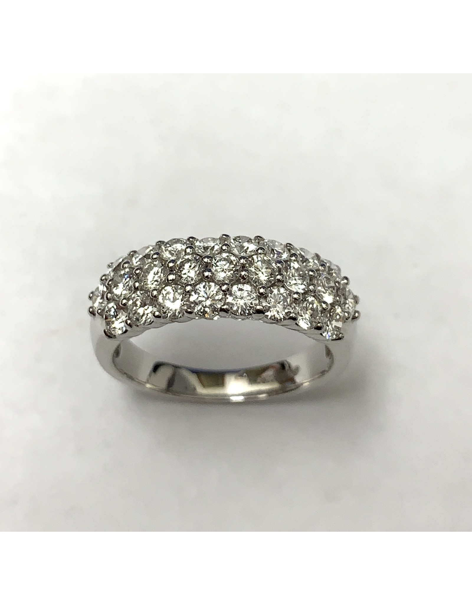 Honeycomb Canadian Diamond Ring 18KpW