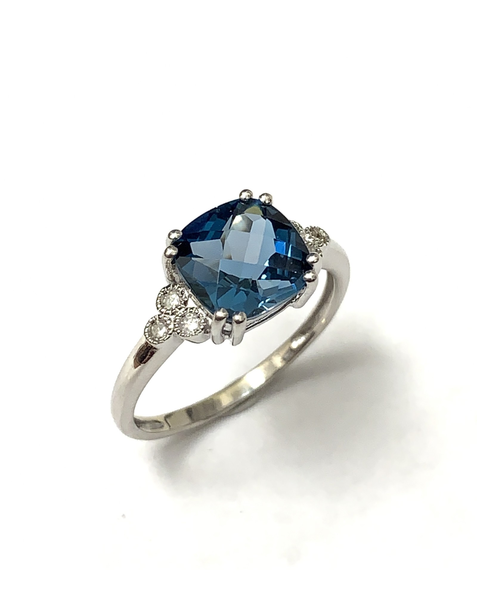 Topaz & Diamond Ring 10KW