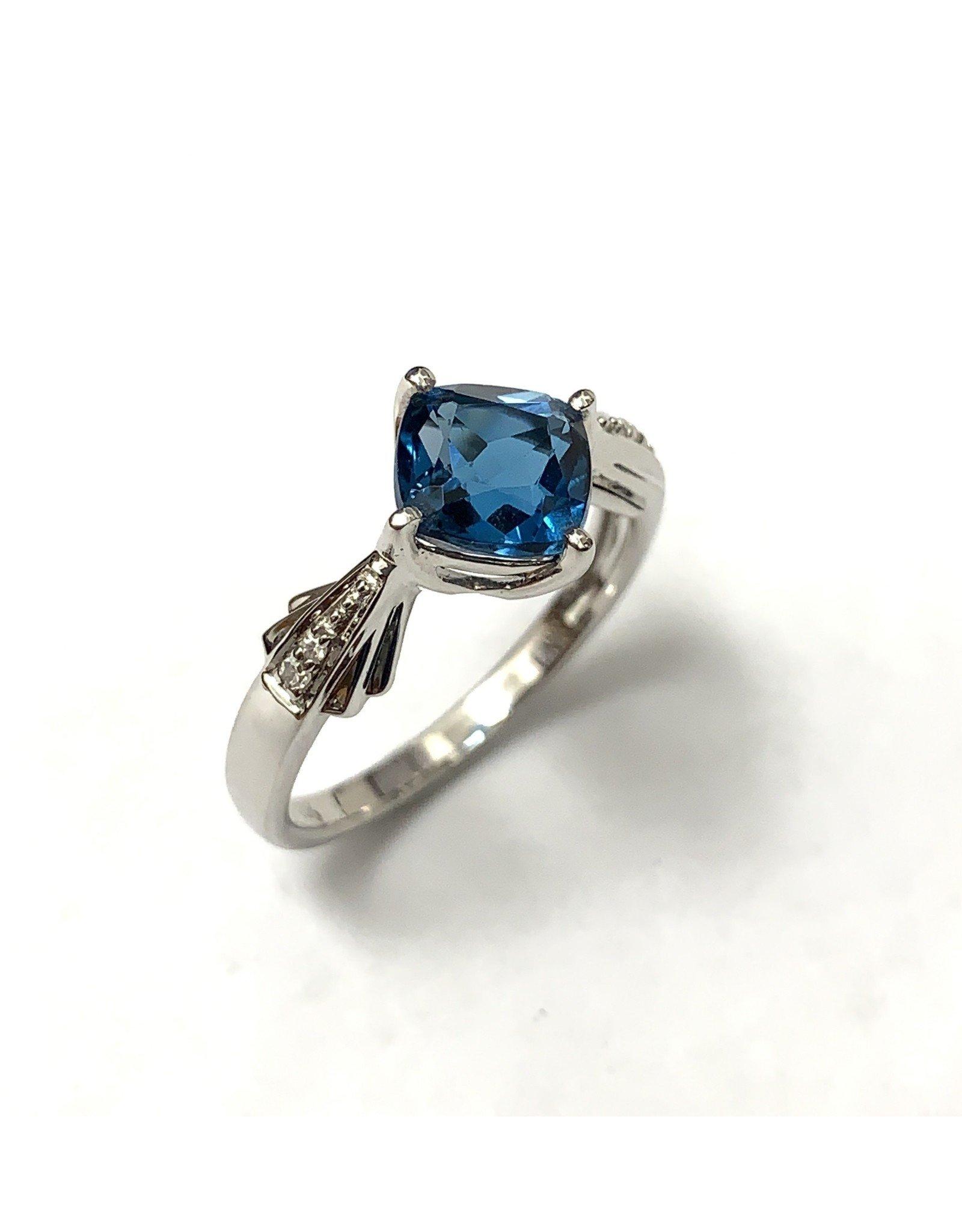 Topaz & Diamond Ring 10KW