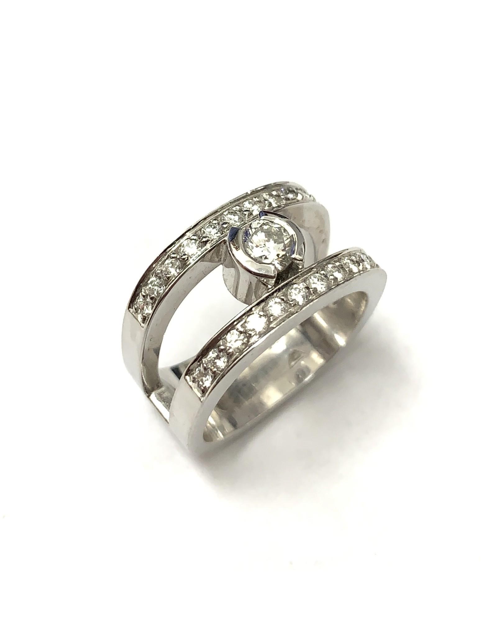 0.65ctw Diamond Ring 14KW