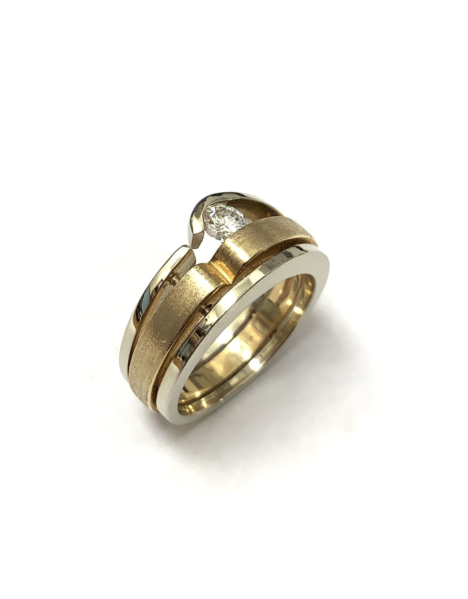 Contemporary Style Diamond Ring 14KWY