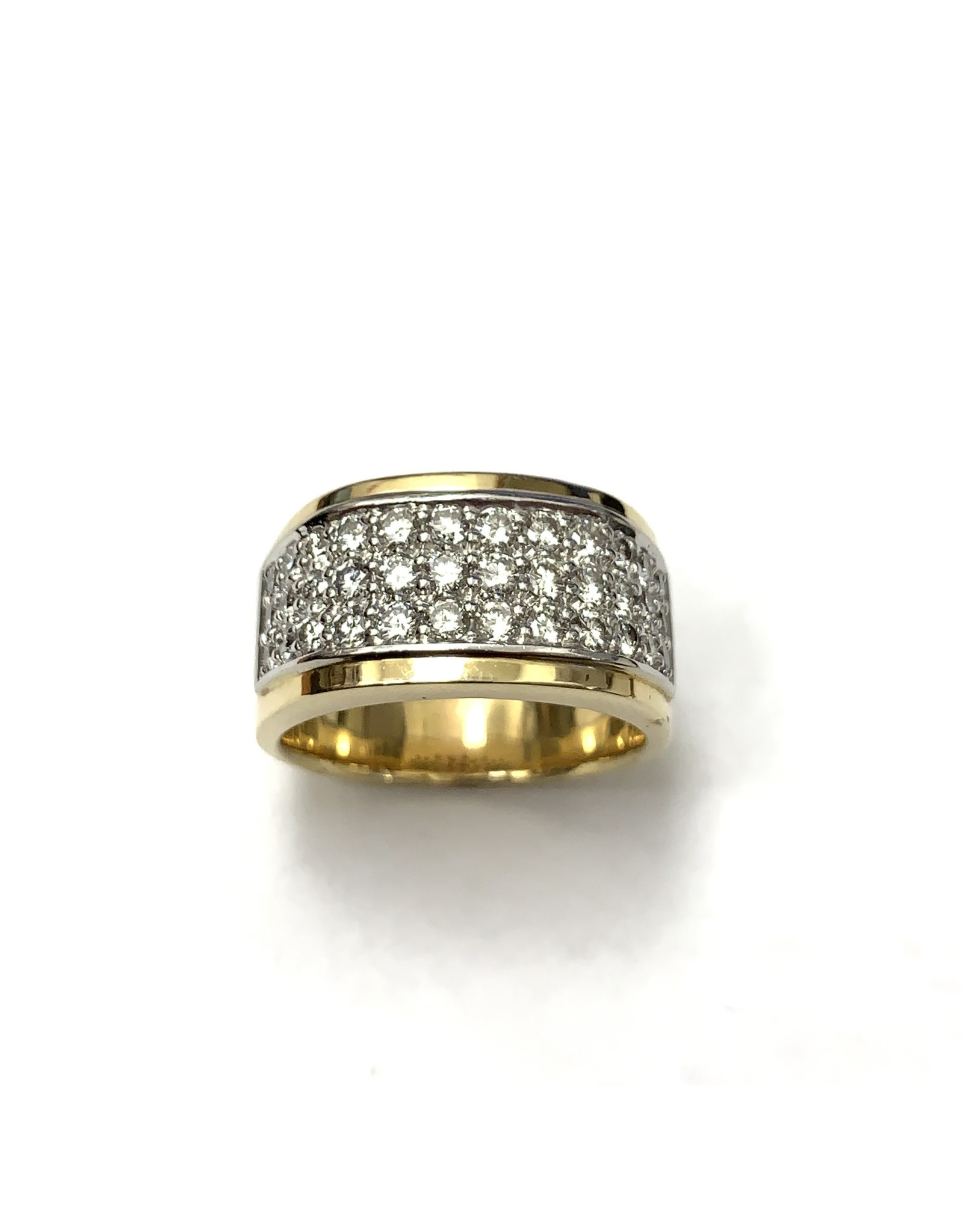 1.00ctw Pave Diamond Ring 14KWY