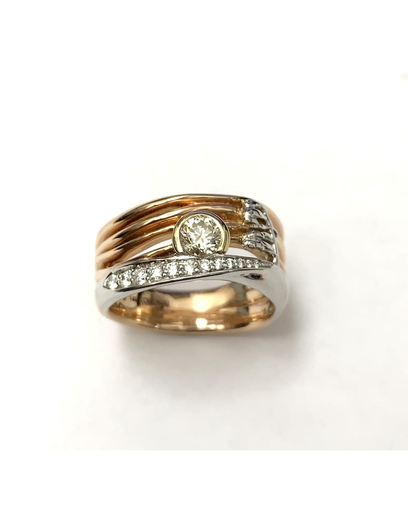 Canadian Sunset Diamond Ring 14KRWY
