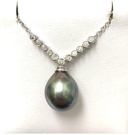 Tahitian Pearl & Diamond Neckpiece