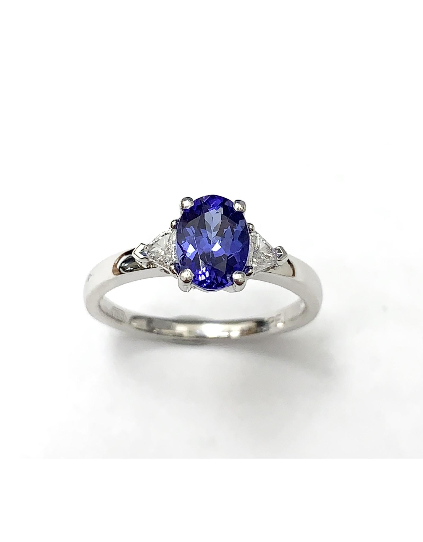 1.11ct Tanzanite & Diamond Ring  18KW