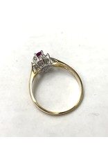 Ruby & Diamond Cluster Ring 10KYW