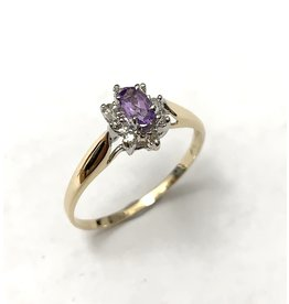 Amethyst & Diamond Cluster Ring