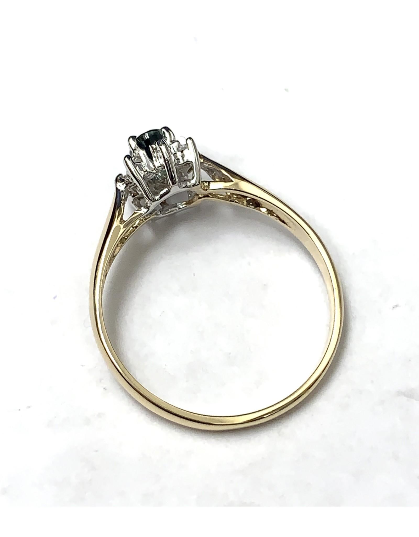 Sapphire & Diamond Cluster Ring 10KYW