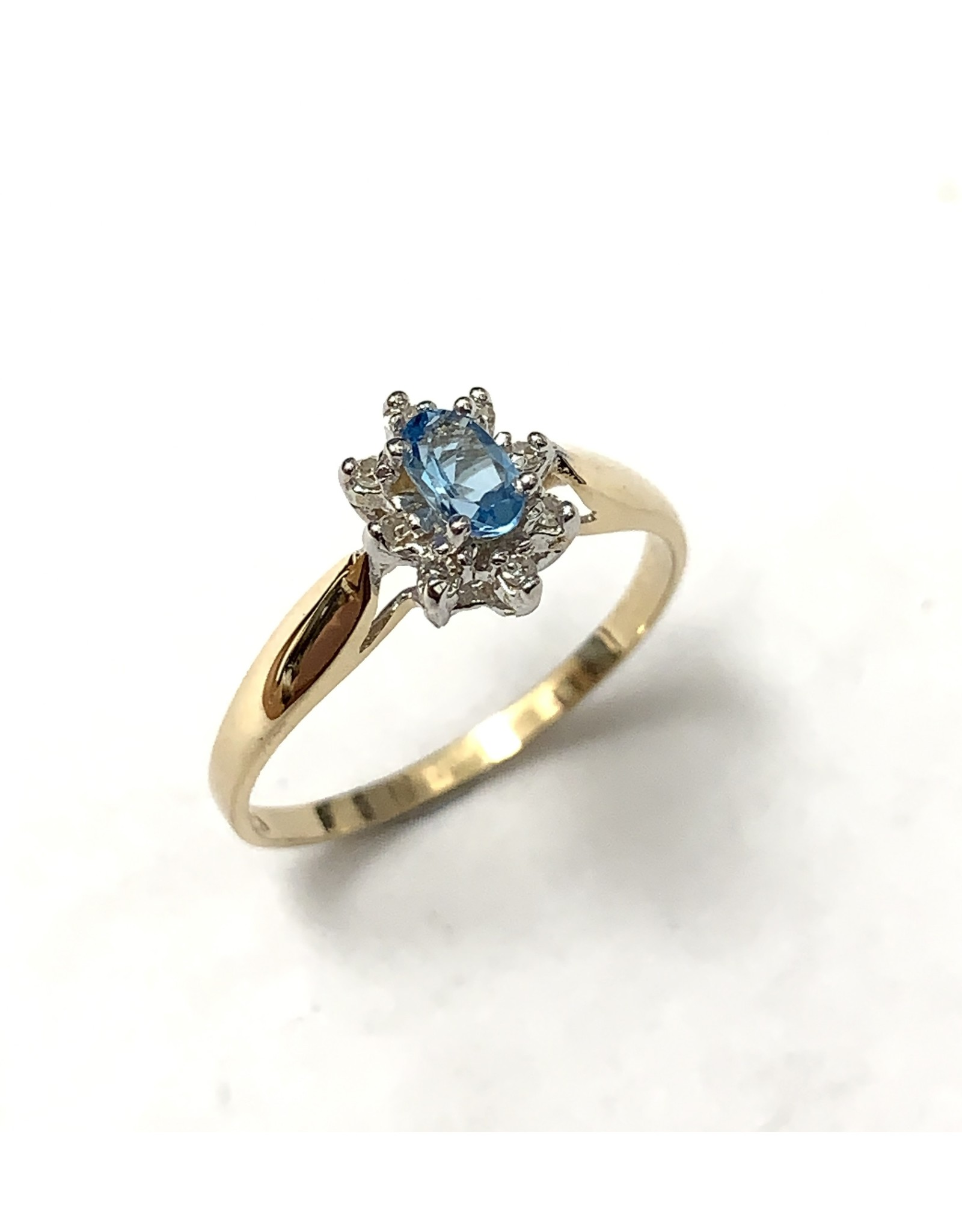 Topaz & Diamond Cluster Ring 10KYW