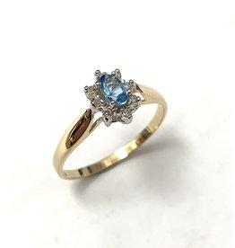 Topaz & Diamond Cluster Ring