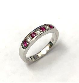Ruby & Diamond Channel Set Ring