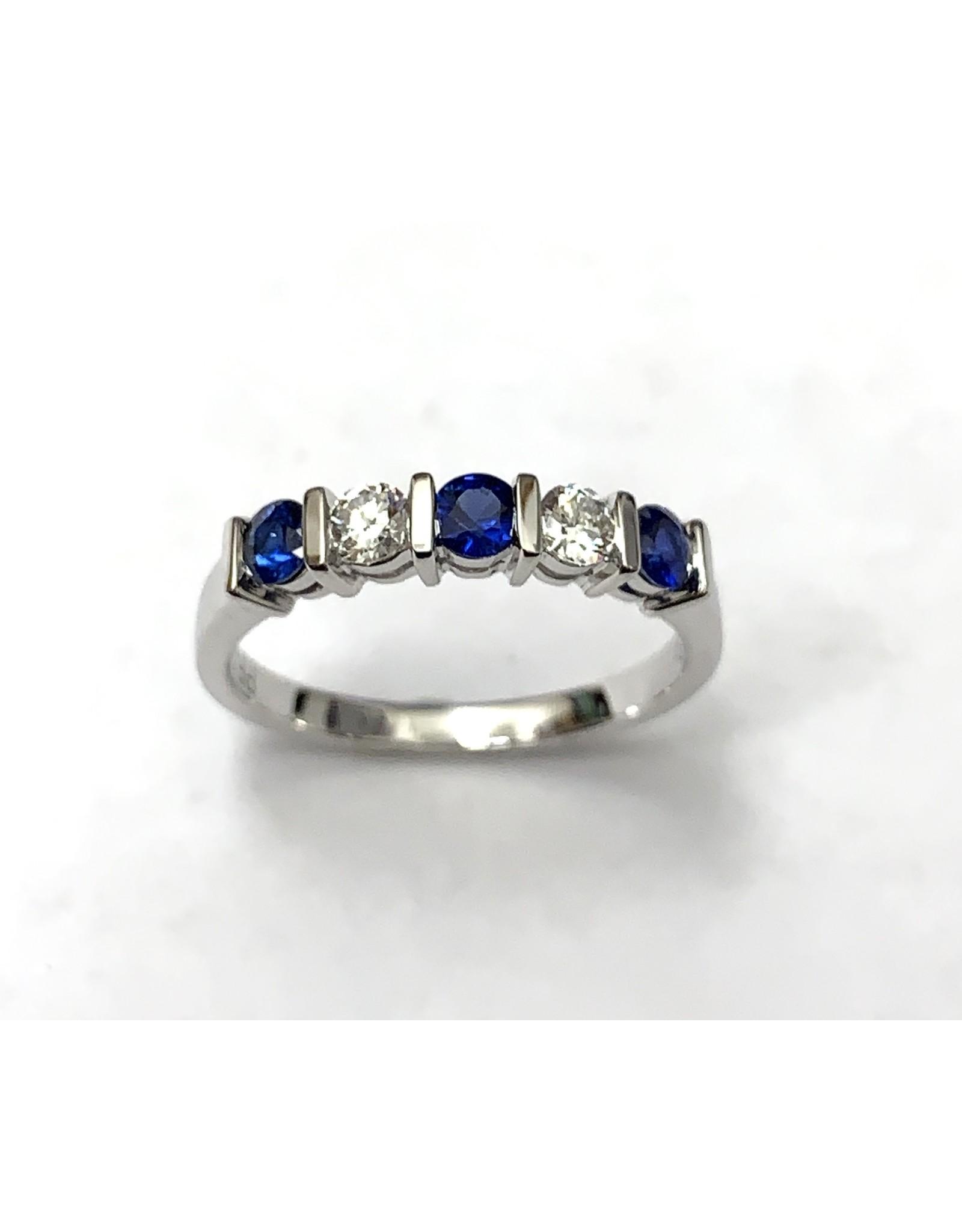 Sapphire & Diamond Ring 18KW