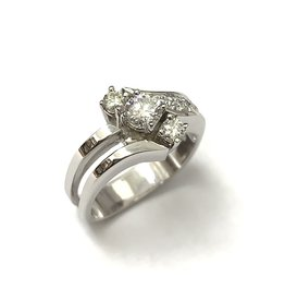0.61ctw Contemporary Style Diamond Ring