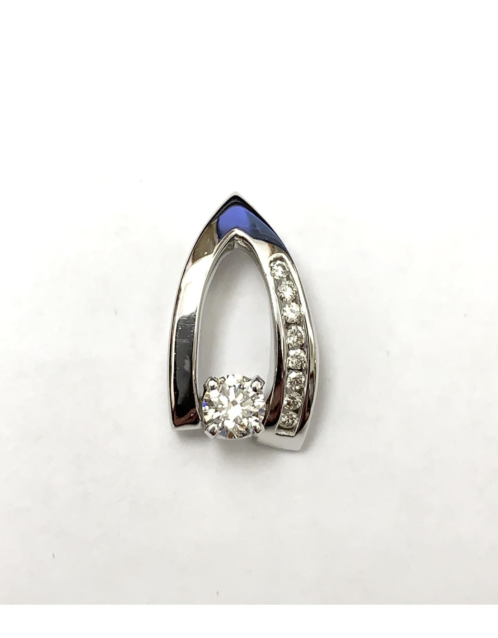 0.25ct Custom Canadian Diamond Pendant 14KW