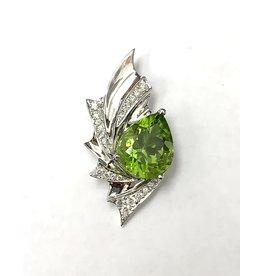 3.95ct Peridot & Diamond Pendant