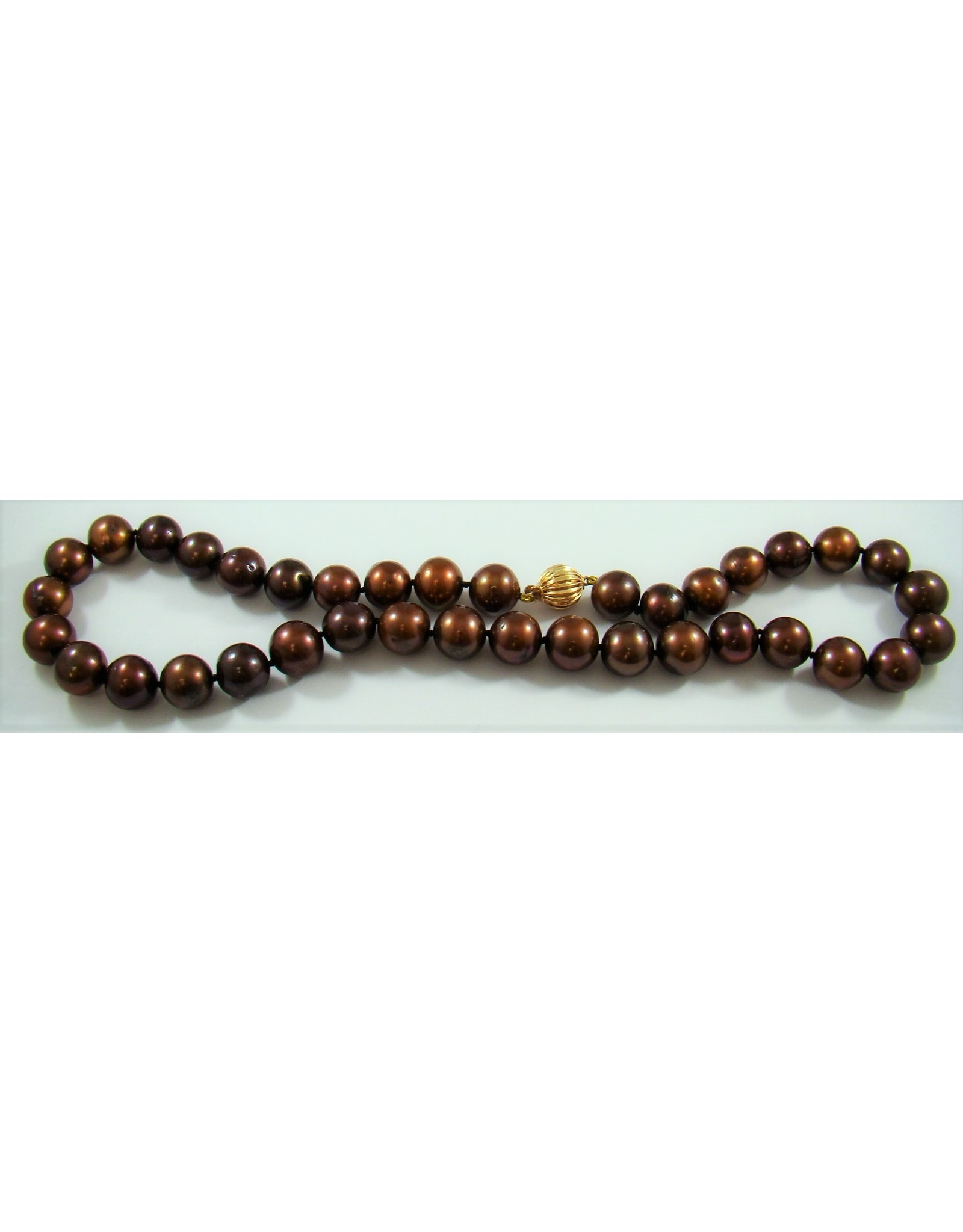 Copper Freshwater (11-12mm) Pearl Strand 14KY