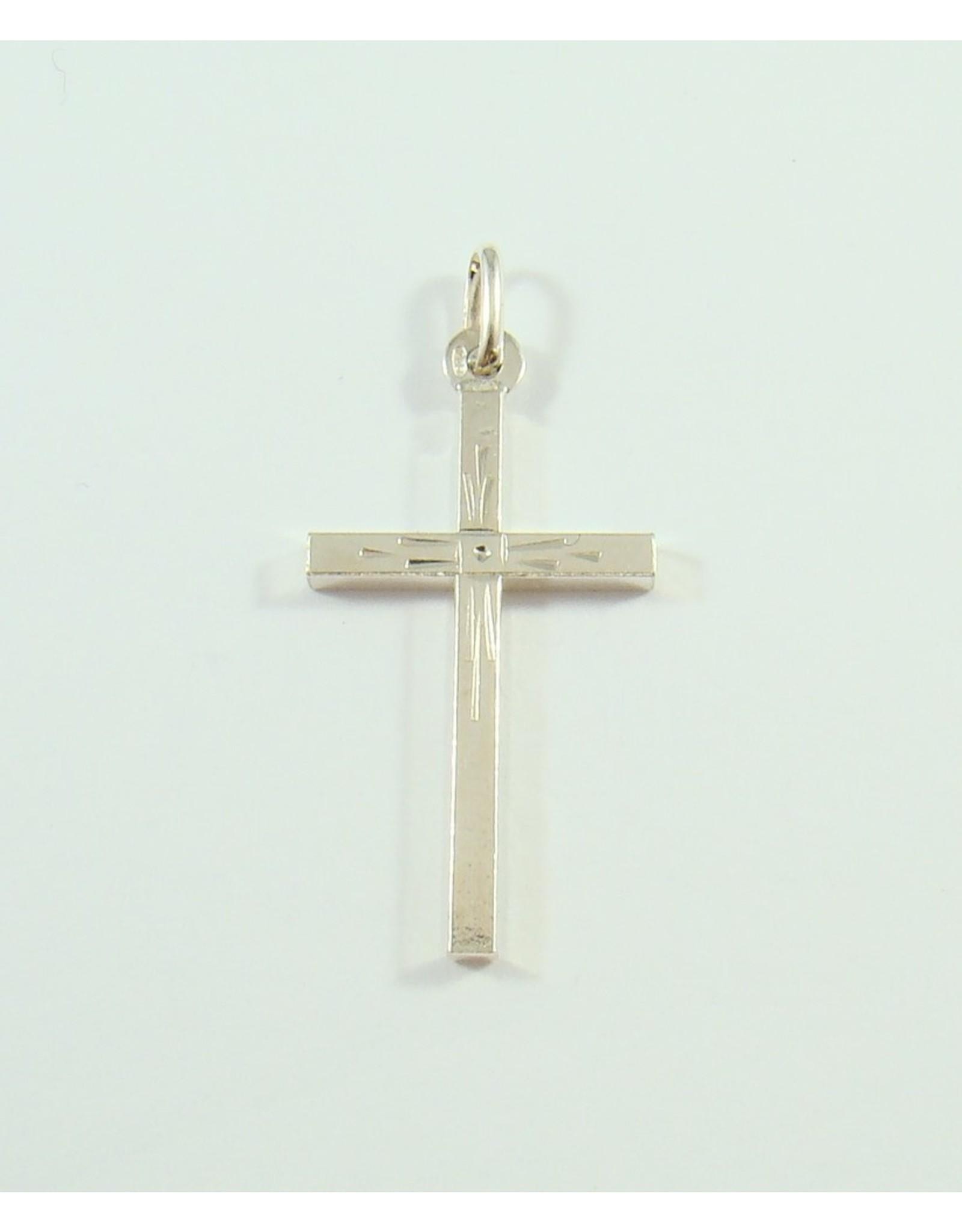 27 x 17mm Cross Pendant SS