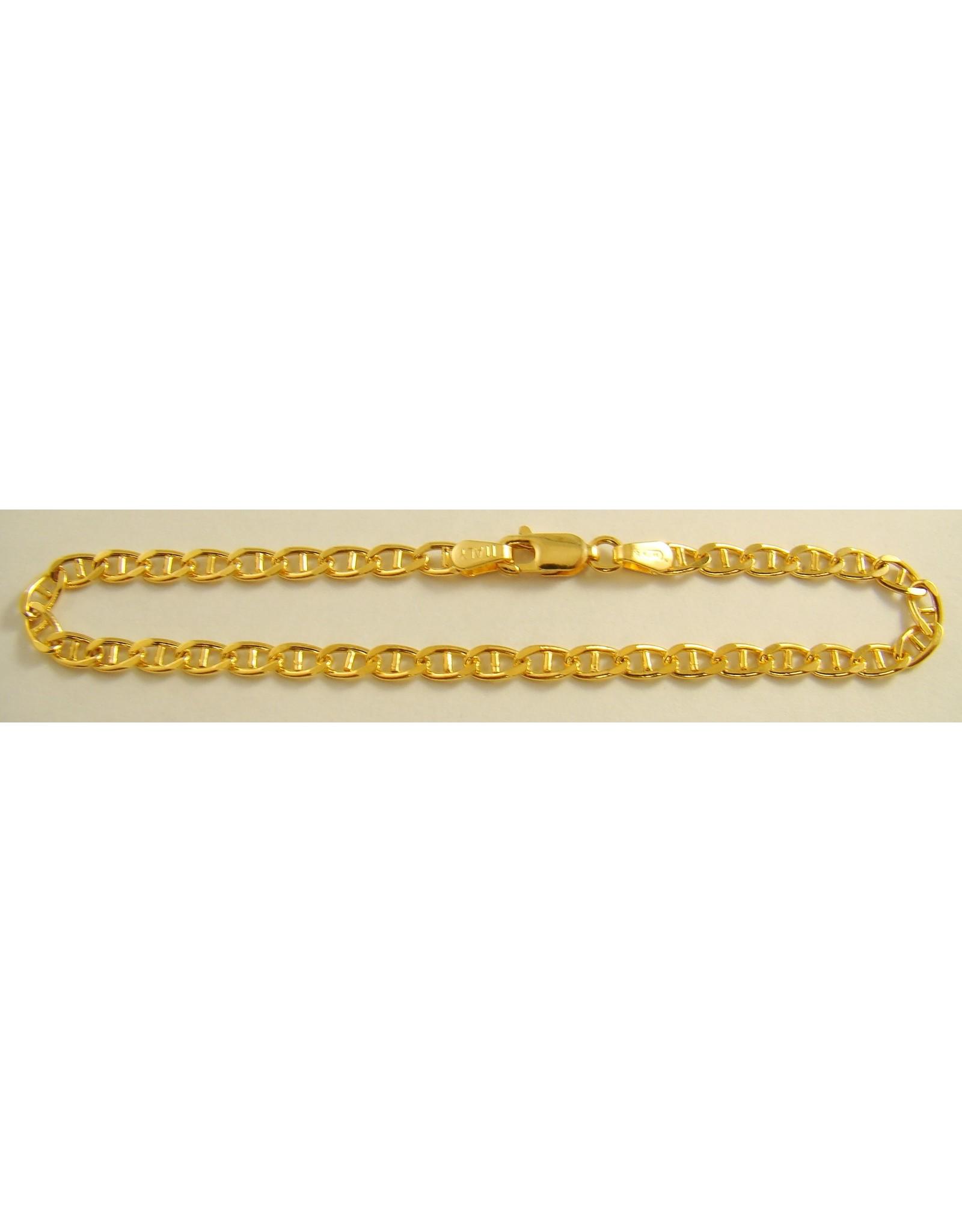 """7.5"""" Marine Link Gold Bracelet 10KY"""