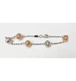 "7.25"" Fancy Ball Bracelet"