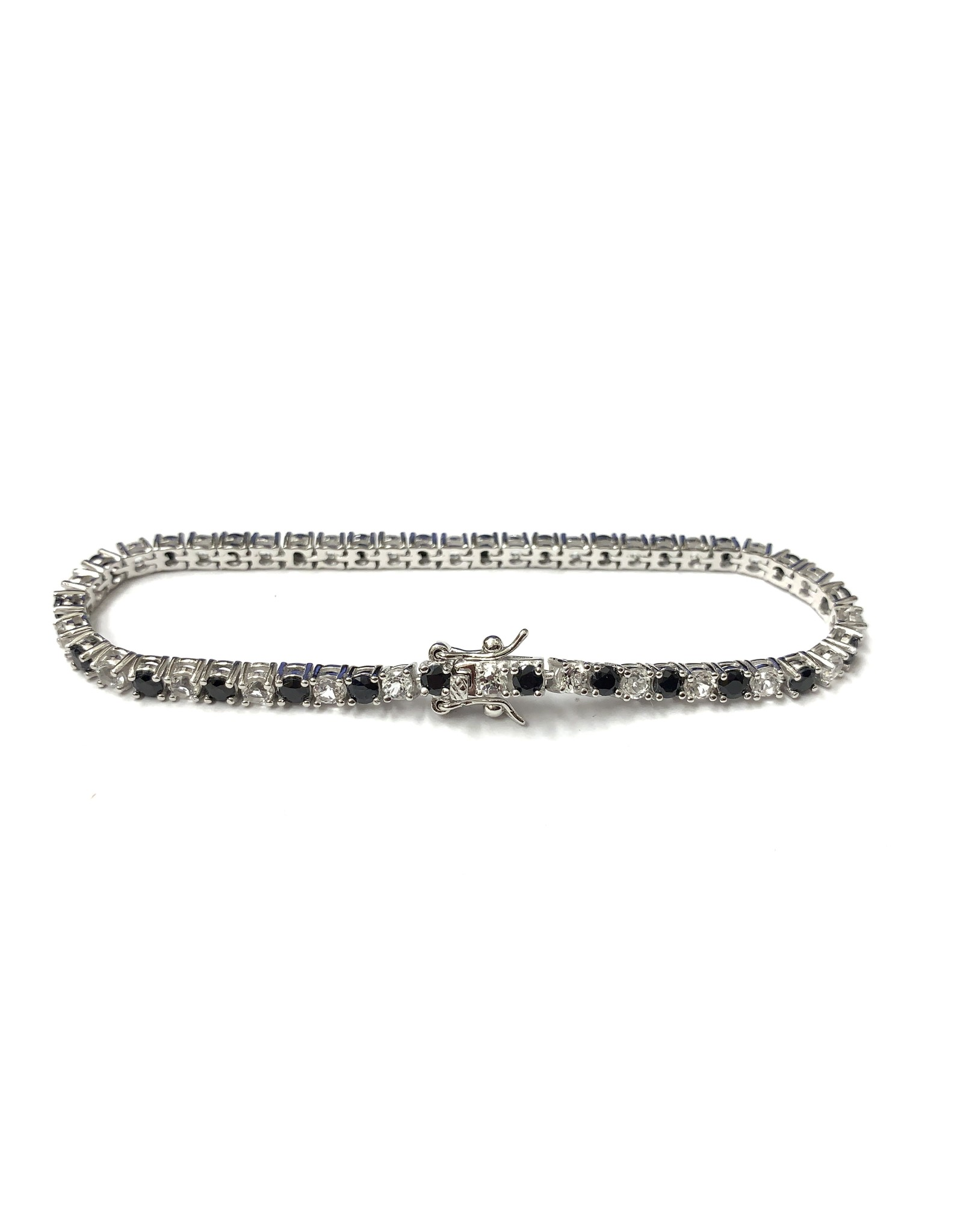 Sapphire & Topaz Bracelet SS