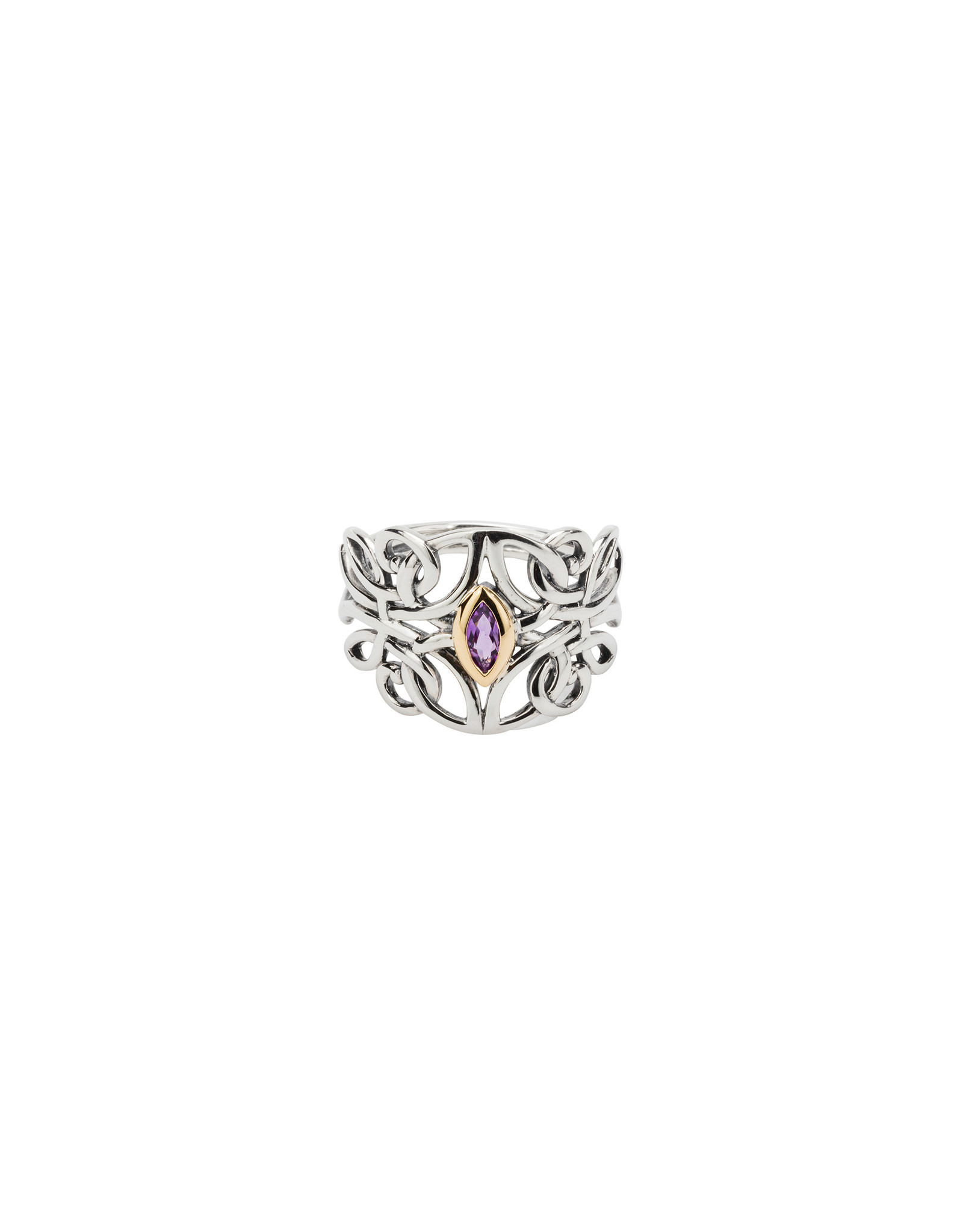 Keith Jack Amethyst Ring SS/10KY