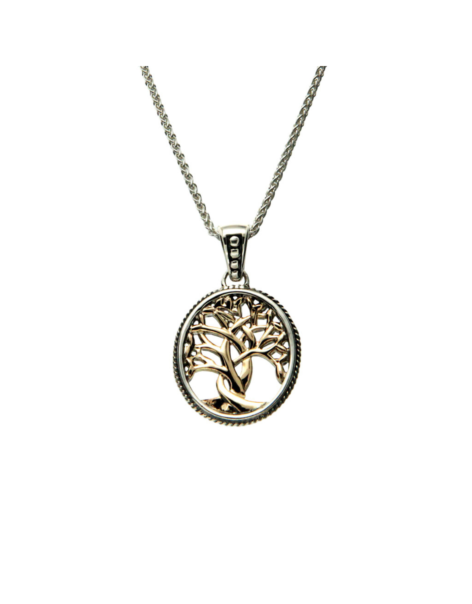 Keith Jack Tree of Life Pendant (Small) SS/10KY