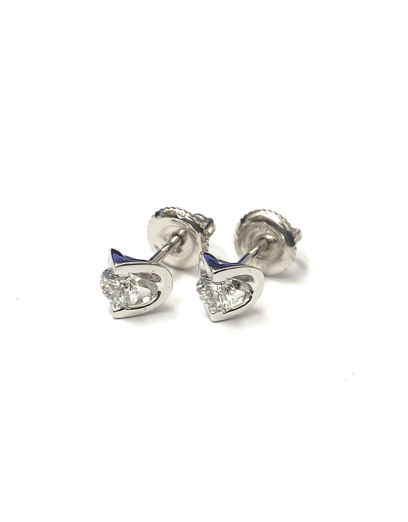 Canadian Diamond Stud Earrings 14KW