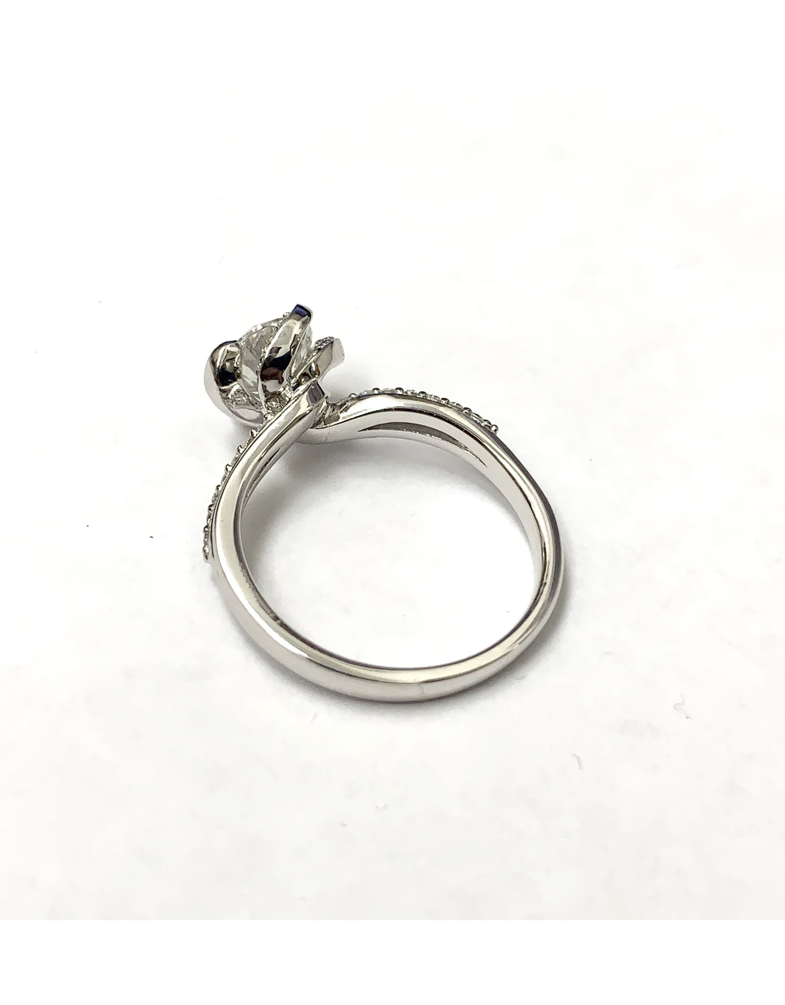 1.01 Canadian Diamond Engagement Ring 18KW