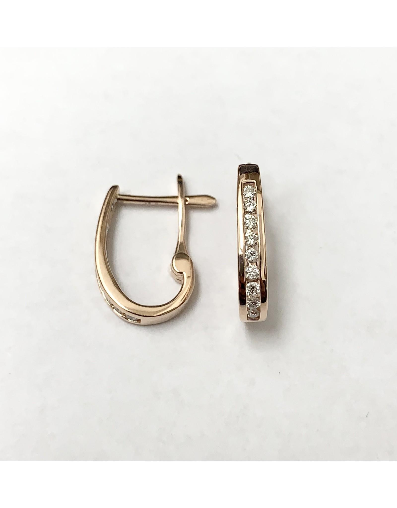 0.25ctw Diamond Hoop Earrings 10KR