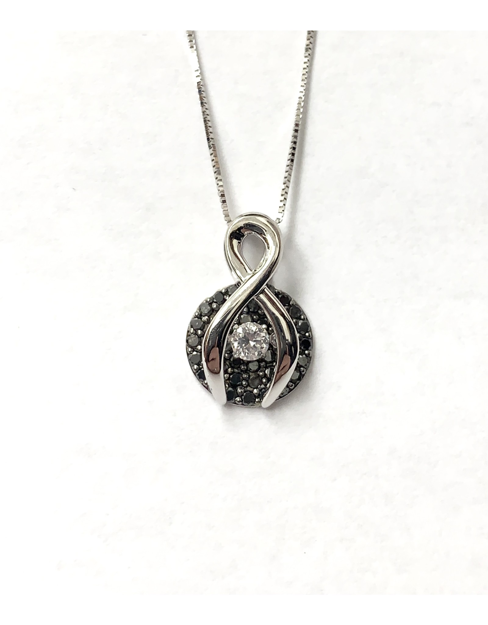 Black & White Diamond Pendant 10KW