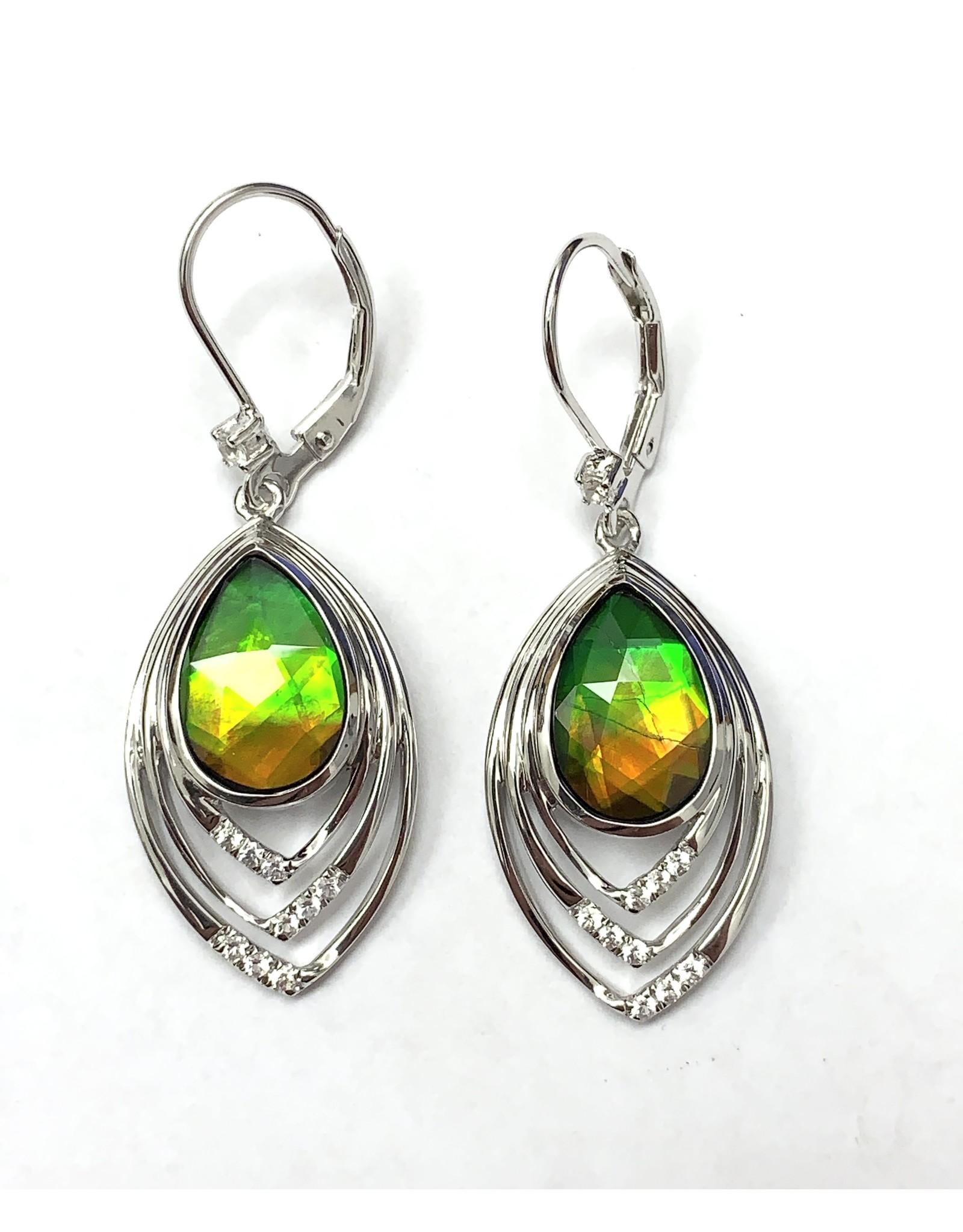 Korite Malibu Ammolite Earrings SS