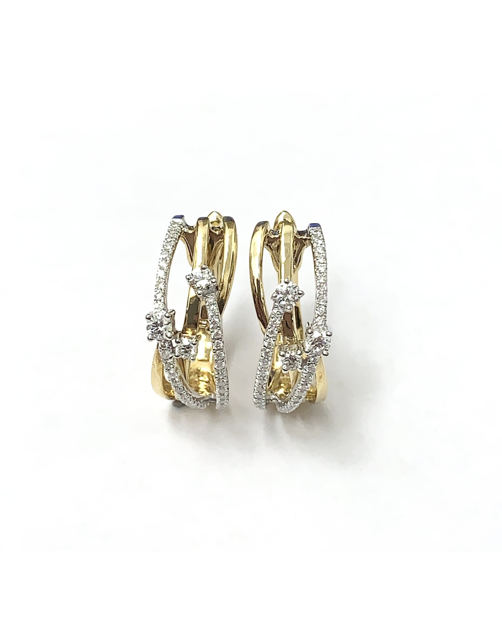 0.45ctw Diamond Crossover Earrings 18KWY