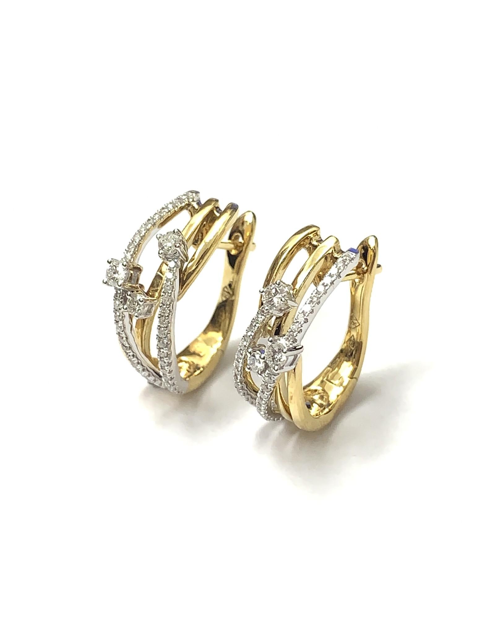 0.45ctw Diamond Crossover Earrings 18KWY