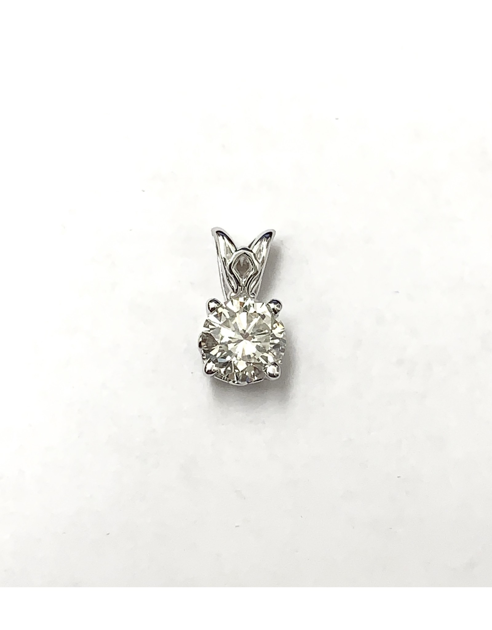 0.83ct Solitaire Diamond Pendant 14KW