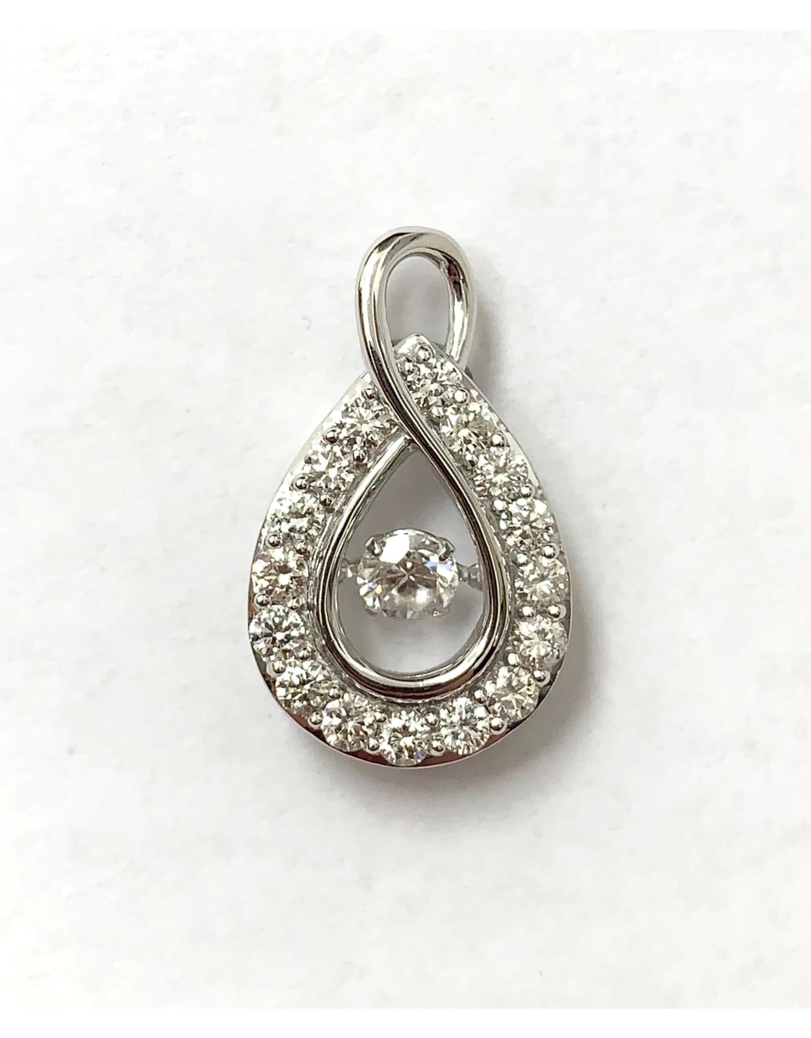 1.00ctw Dancing Diamond Pendant 10KW