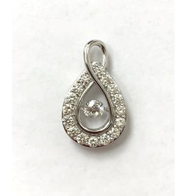 1.00ctw Dancing Diamond Pendant