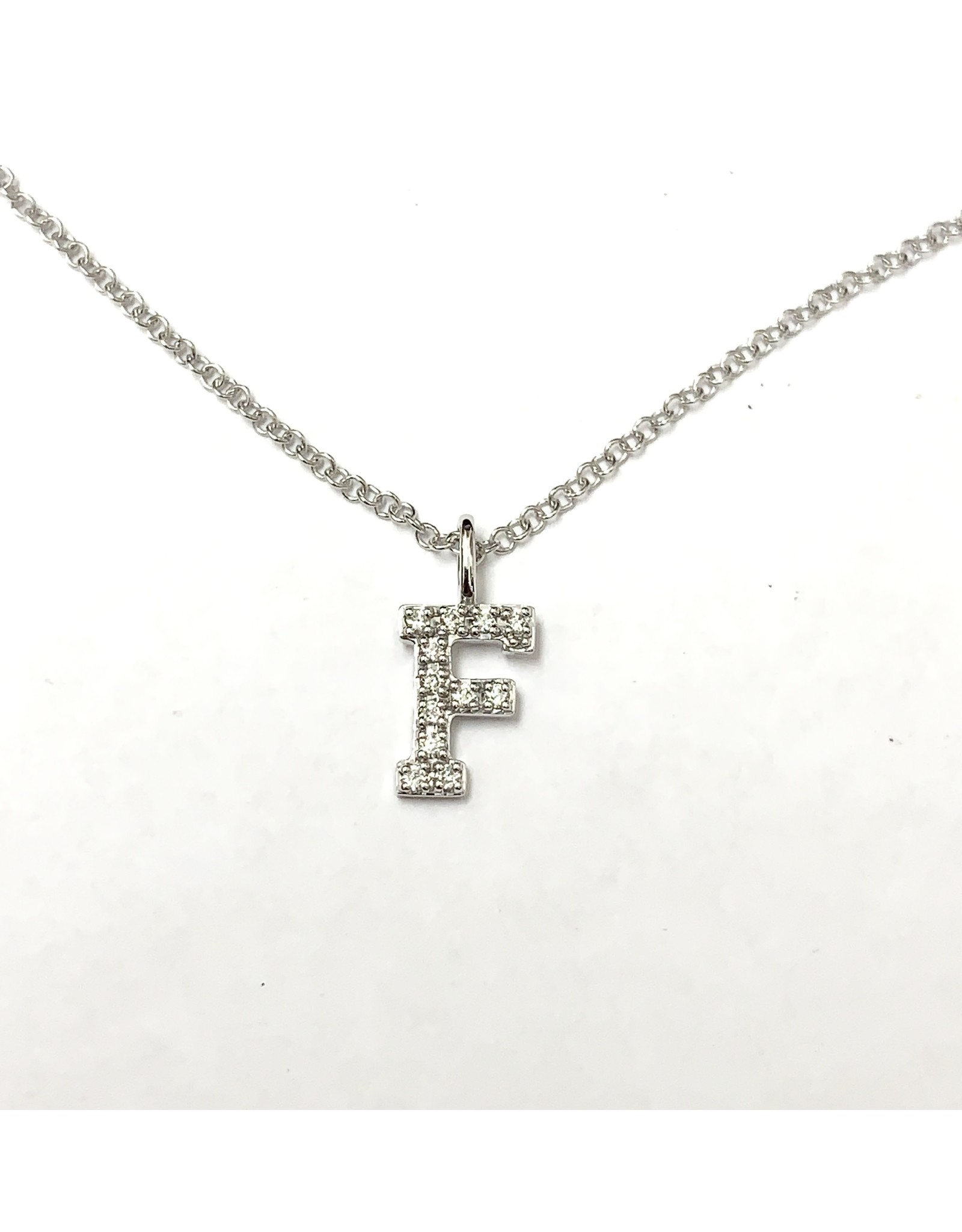 """F"" Diamond Pendant 10KW"